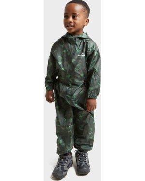 Peter Storm Kids' Waterproof Suit, Green/KHK