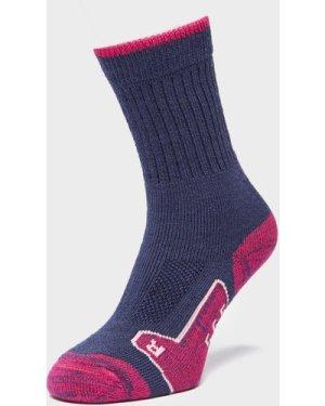 Brasher Women's Walker Socks, Purple/NVY/PNK