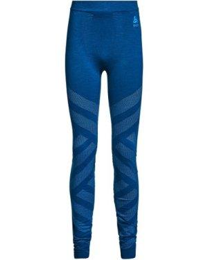 Odlo Men's Natural + Kinship Baselayer Leggings - Blue/Blu, Blue/BLU