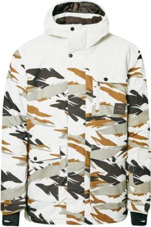 Protest Men's Rambo Camo Ski Jacket - White/Wht, White/WHT