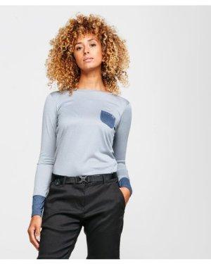 Berghaus Women's Explorer Long Sleeve Crew T-Shirt - Grey/Gry, Grey/GRY