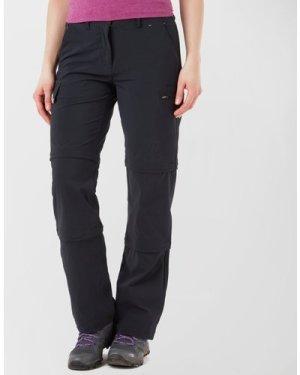 Peter Storm Women's Stretch Double Zip Off Walking Trousers - Black/Blk, Black/BLK