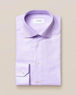 Light Purple Herringbone Twill Shirt