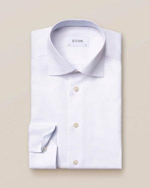 White Twill Shirt – Geometric Details