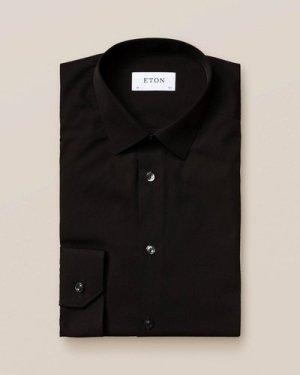 Black Poplin Shirt