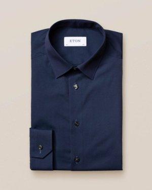 Dark Blue Poplin Shirt