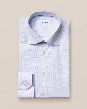 Light Blue Micro Print Shirt