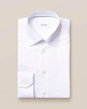 White Button-Under Collar Shirt