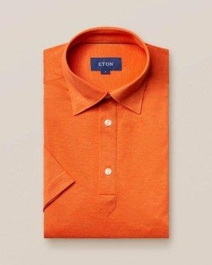 Orange polo shirt - short sleeved