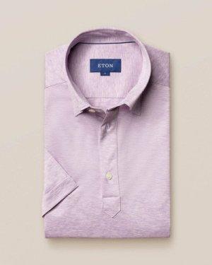 Purple popover jersey shirt - short sleeved