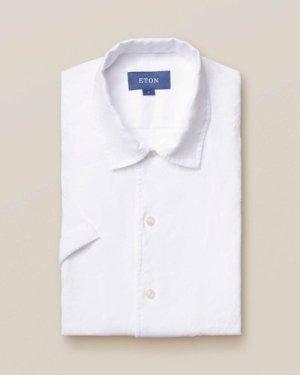 White linen resort shirt