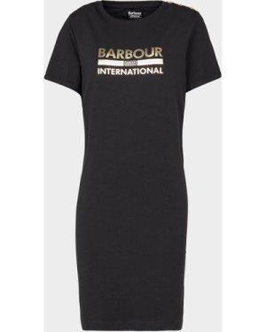 Women's Barbour International Thunderbolt Dress Black, Black