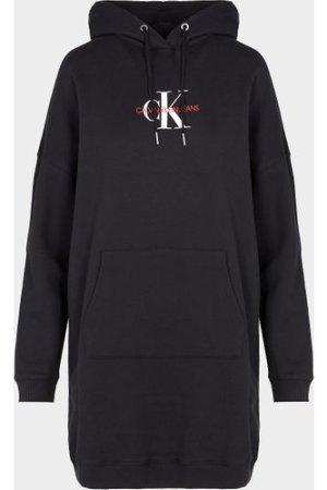 Women's Calvin Klein Jeans Monogram Hoodie Dress Black, Black