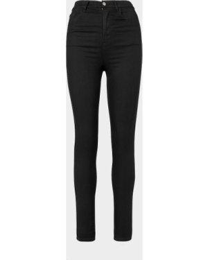 Women's Emporio Armani J64 High Waisted Extreme Skinny Jeans Black, Black
