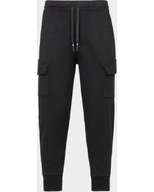 Men's Neil Barrett Cargo Track Pants Black, Black