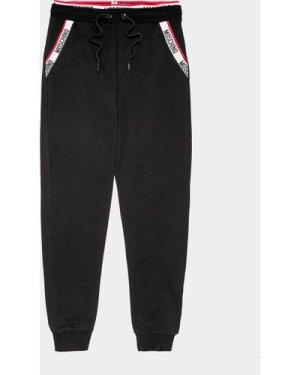 Men's Moschino Pocket Tape Track Pants Black, Black