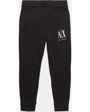 Men's Armani Exchange Icon Cuffed Fleece Pants Black, Black