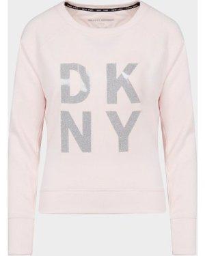 Women's DKNY Foil Logo Sweatshirt Pink, Pink