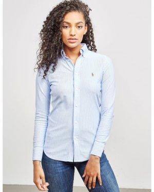 Women's Polo Ralph Lauren Heidi Long Sleeve Shirt Multi, Blue/White