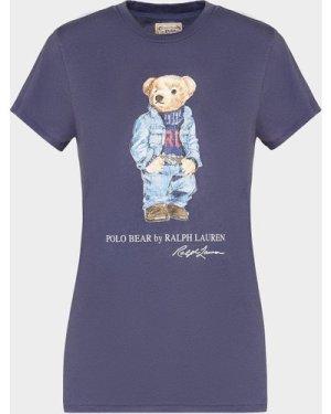 Women's Polo Ralph Lauren Denim Bear T-Shirt Blue, Navy/Navy