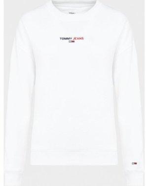 Women's Tommy Jeans Linear Logo Sweatshirt White, White