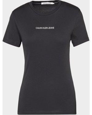 Women's Calvin Klein Jeans Monogram Back Logo T-Shirt Black, Black