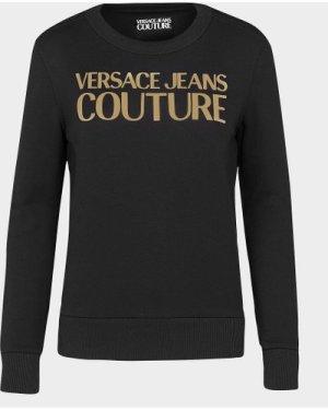 Women's Versace Jeans Couture Foil Logo Sweatshirt Black, Black