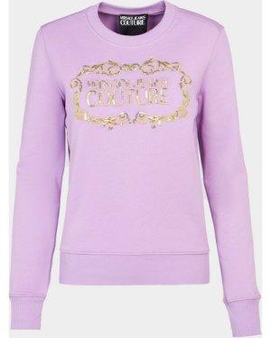Women's Versace Jeans Couture Logo Sweatshirt Purple, Lilac