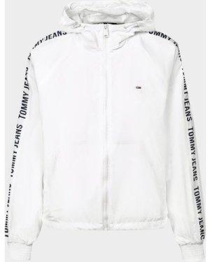 Women's Tommy Jeans Tape Windbreaker Jacket White, White