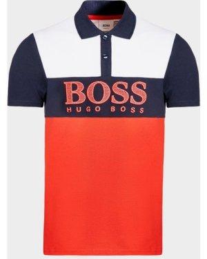 Kid's BOSS Colour Block Polo Shirt Multi, Multi