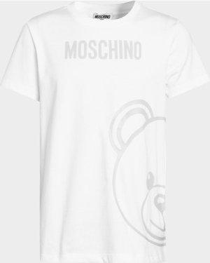 Kid's Moschino Side Bear T-Shirt White, White