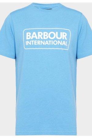 Kid's Barbour International Essential Large Logo T-Shirt Blue, Blue