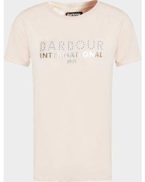 Kid's Barbour International Drift T-Shirt Pink, Pink