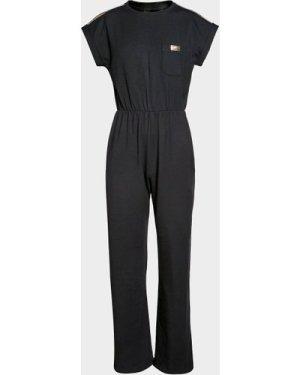 Kid's Barbour International Jumpsuit Black, Black