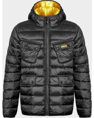 Kid's Barbour International Oust Hood Jacket Black, Black