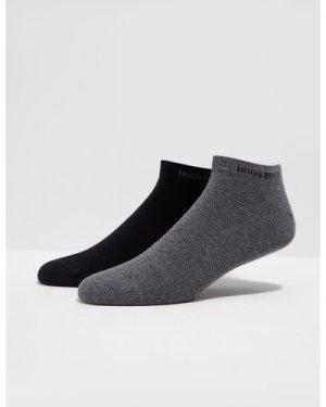 Men's BOSS 2 Pack Trainer Socks Multi, Black/Grey