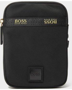 Men's BOSS Pixel Neck Pouch Bag Black, Black