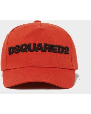 Men's Dsquared2 Large Text Cap, Red