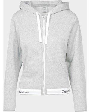 Women's Calvin Klein Underwear Full Zip Hoodie Grey, Grey Marl
