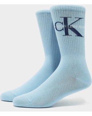 Women's Calvin Klein Underwear Jeans Logo Socks Blue, Blue