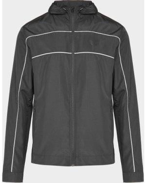Men's Castore Panel Hooded Jacket Black, Black