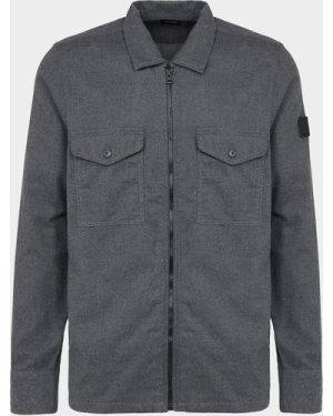Men's BOSS Lom Zip Overshirt Grey, Grey/Grey