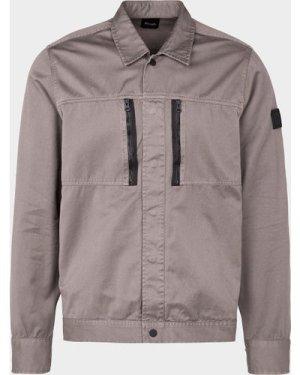 Men's BOSS Lowy Pocket Overshirt Grey, Grey