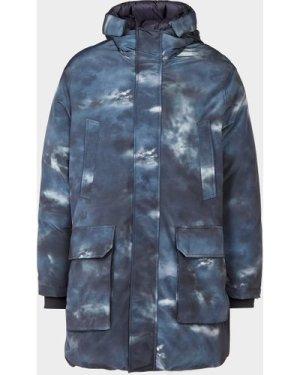 Men's Emporio Armani Reversible Cloud Parka Jacket Blue, Blue/Blue