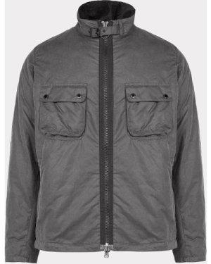 Men's Barbour International Tennant Wax Jacket Grey, Grey