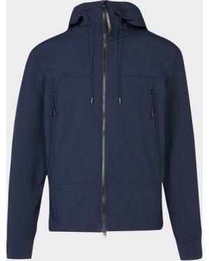 Men's CP Company Goggle Softshell Jacket Blue, Navy