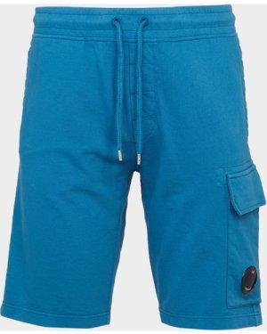 Men's C.P. Company Lightweight Lens Fleece Shorts Blue, Blue