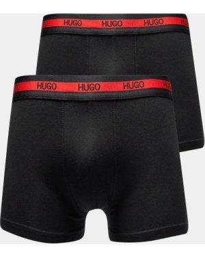 Men's HUGO 2 Pack Boxer Shorts Black, Black