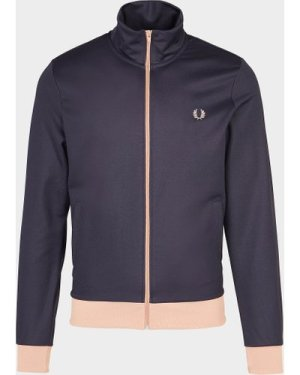 Men's Fred Perry Contrast Trim Track Top Blue, Navy