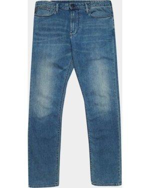 Men's Emporio Armani Soft Slim Fit Jeans Blue, Blue